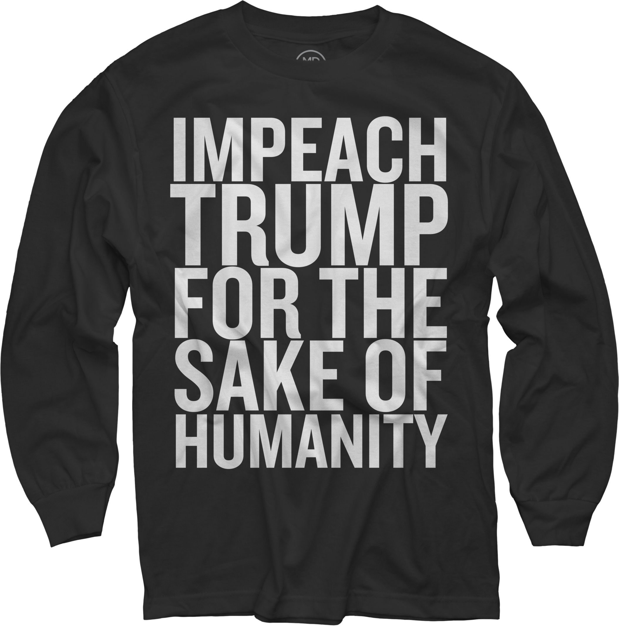 IMPEACH TRUMP long sleeve tee (Mens sizing)