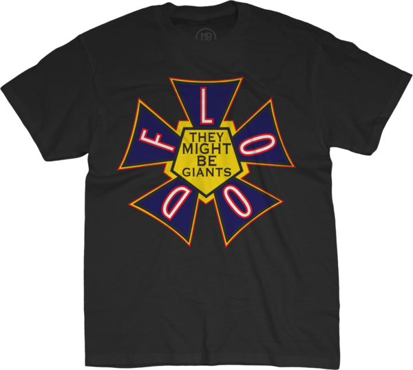 Flood Unisex Black T-Shirt