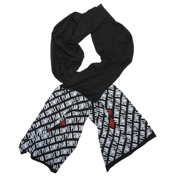 Diagonal Repeat Fine Jersey Scarf