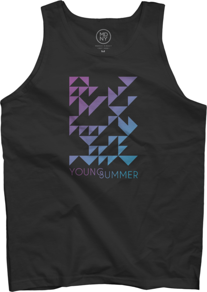 Black Unisex Young Summer Tank