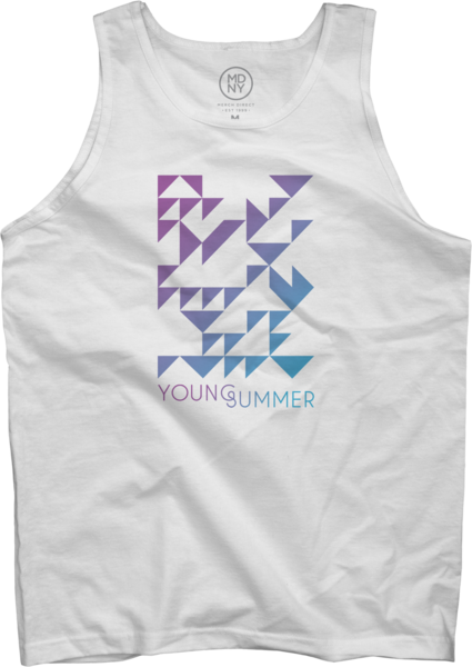 White Unisex Young Summer Tank