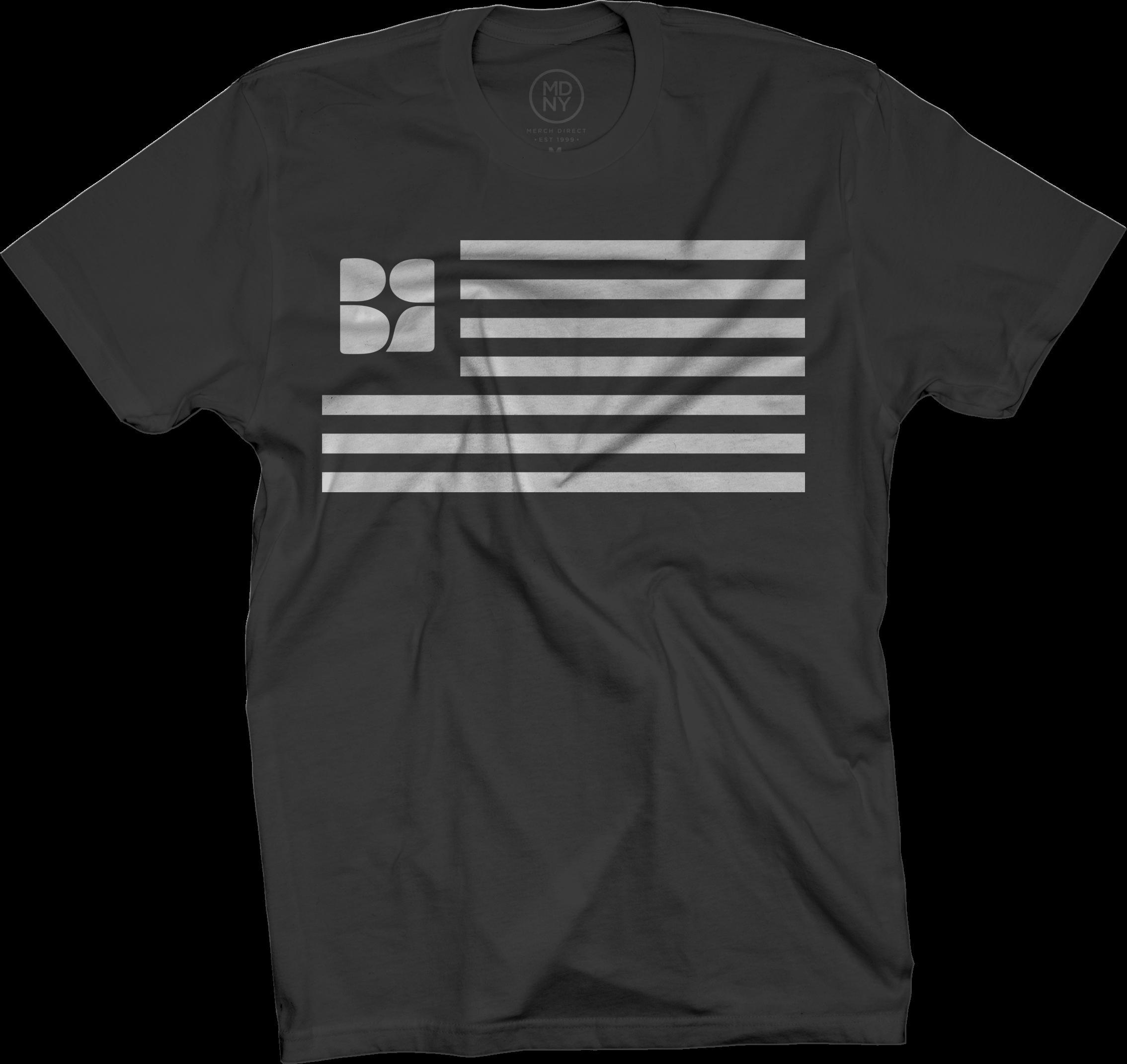 BR Flag Black T-Shirt