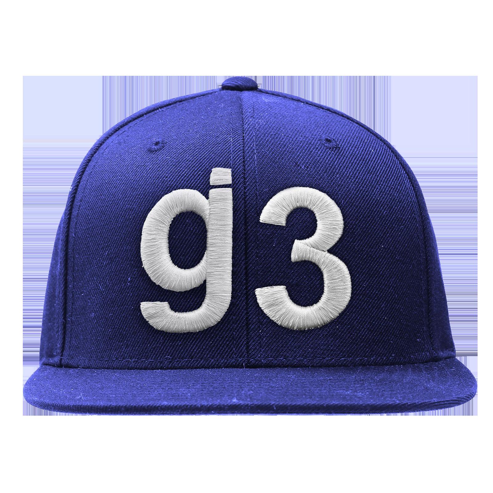 EYEWTKAS G3 White on Blue Snapback