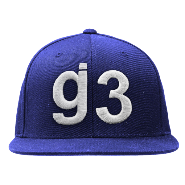 EYEWTKAS G3 White on Blue Snapback