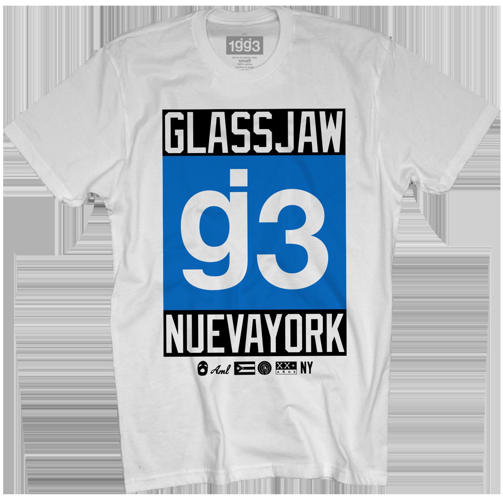 EYEWTKAS g3 Blue Nueva York White T-Shirt