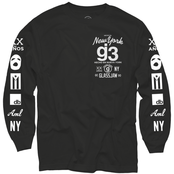 g3 mas logos black long sleeve t-shirt
