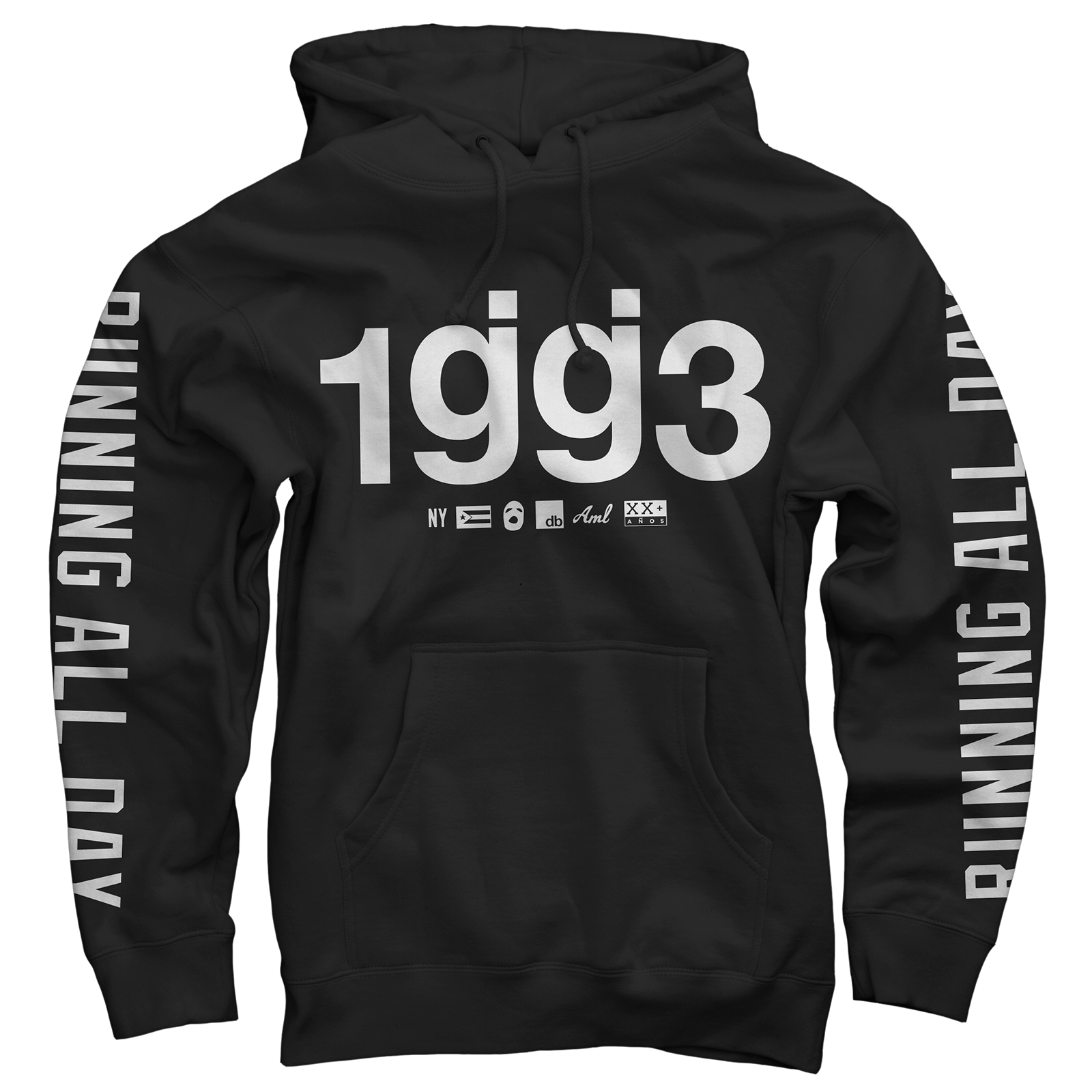 1gg3 running all day pullover sweatshirt