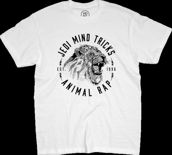 Lion Animal Rap White T-Shirt