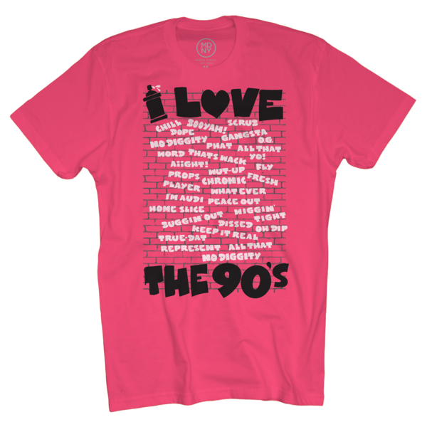 Slang on Neon Pink T-Shirt