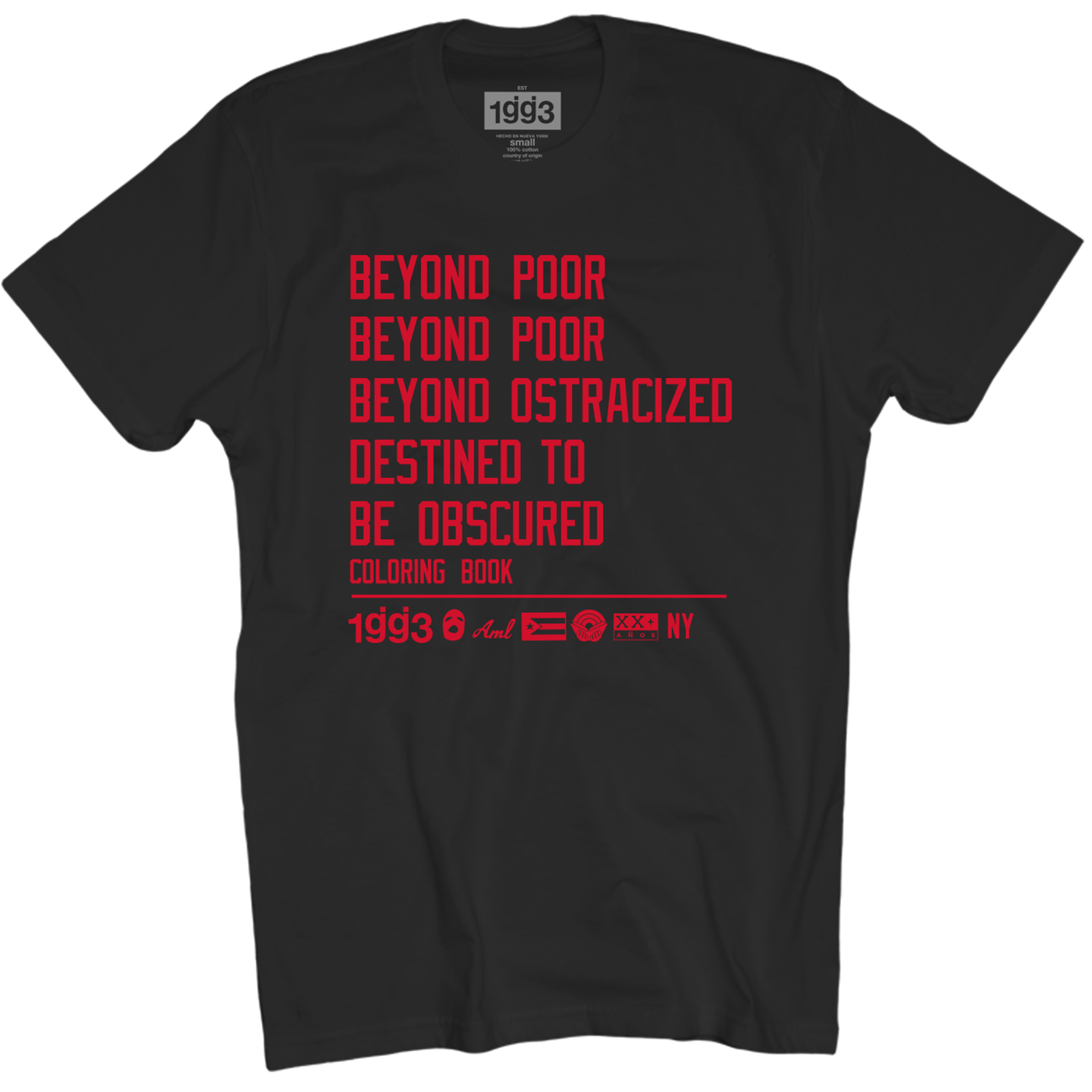CB Beyond Poor Black T-Shirt - Glassjaw