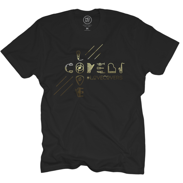 #LoveCovers Gold Foil - Black T-Shirt