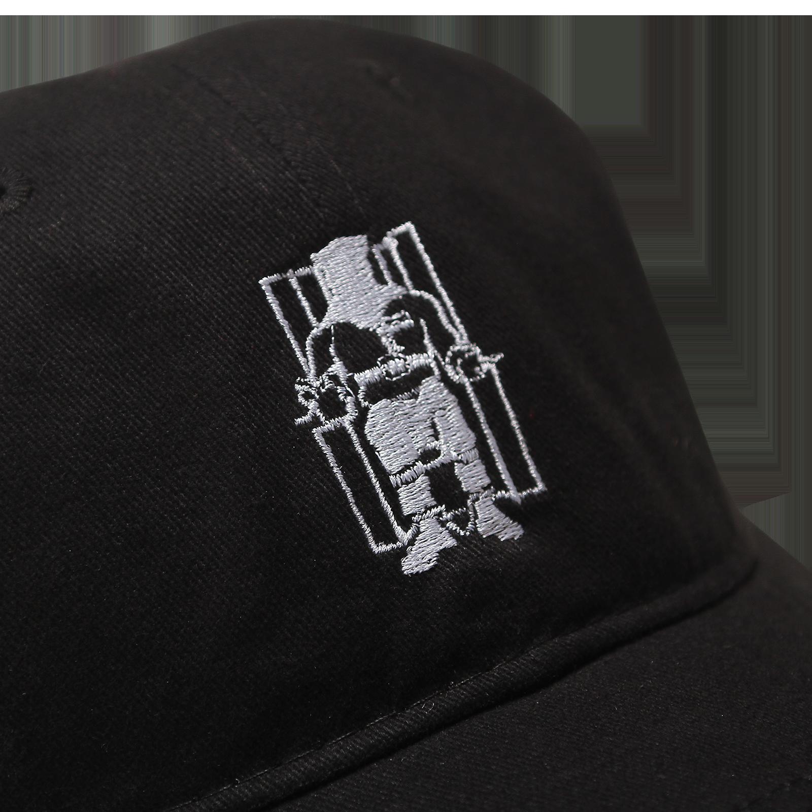 a80407367a630 Death Row Records Black Dad Hat - Death Row Records