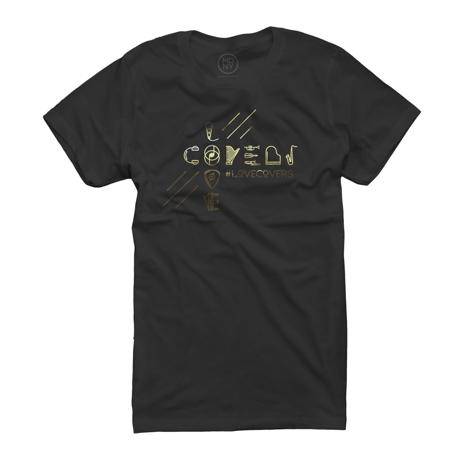 #LoveCovers Gold Foil - Women's Black T-Shirt