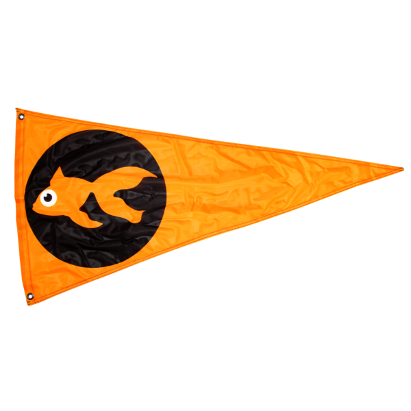 GoldFish Triangle Flag