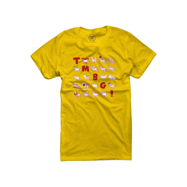 Cats T-Shirt. Daisy yellow (Women's)