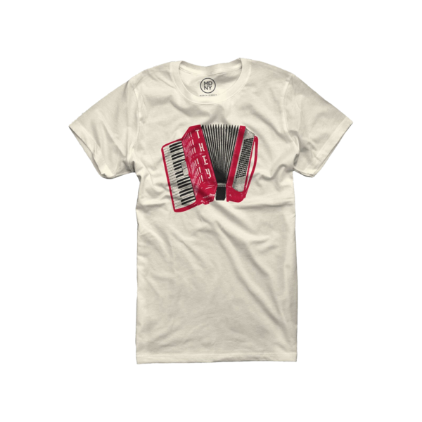 Air Accordion on Natural Ladies T-Shirt