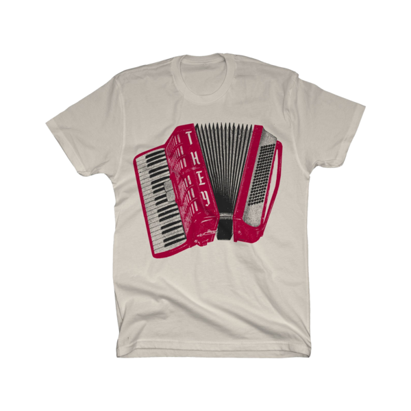 Air Accordion on Unisex Natural T-Shirt