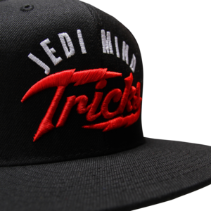 Red Bolt on Black Snapback