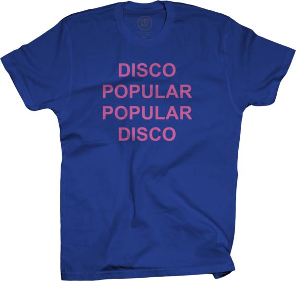 Disco Popular Blue T-Shirt