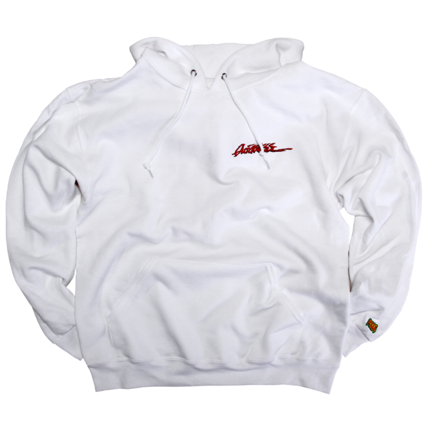 Embroidered Quickness White Pullover