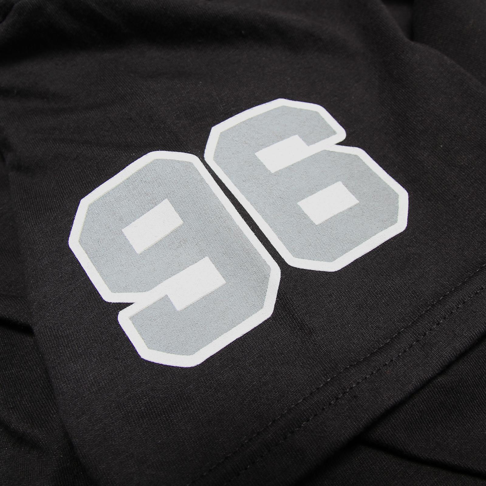 Collegiate Grey on Black T-Shirt