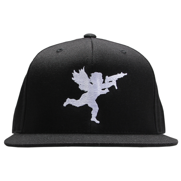 Cupid White on Black Snapback