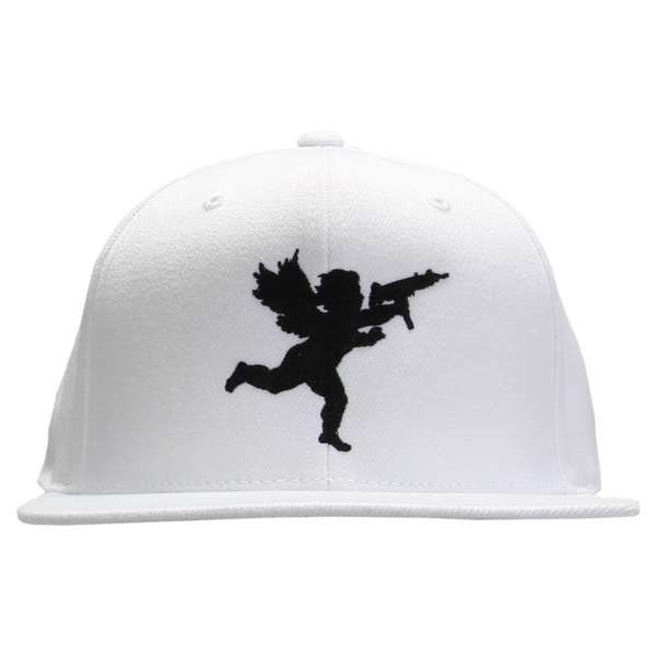 Cupid Black on White Snapback