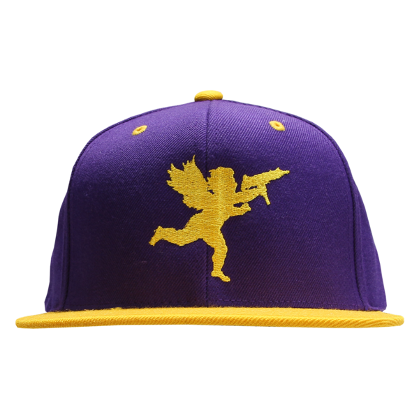 Cupid on Purple/Gold Snapback