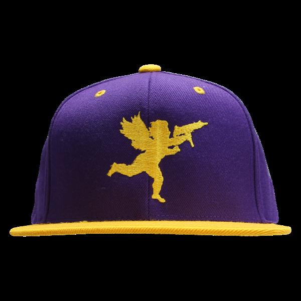 Cupid on Purple/Gold Snapback