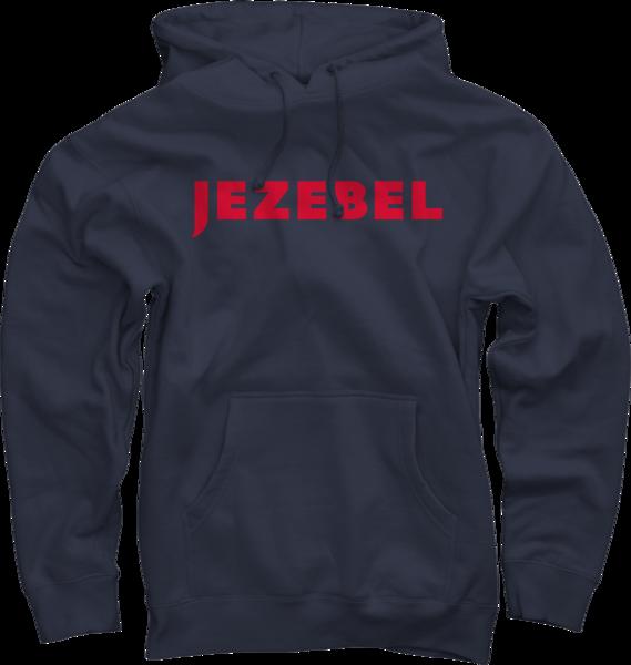 Jezebel on Navy Pullover Hoodie