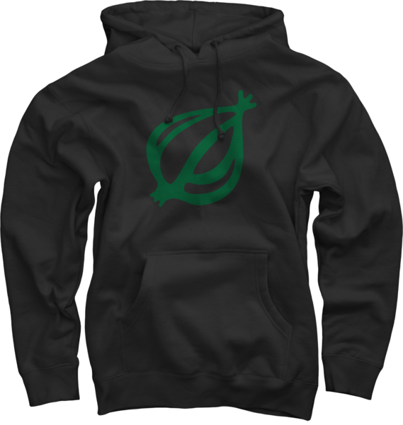 The Onion Logo on Black Pullover