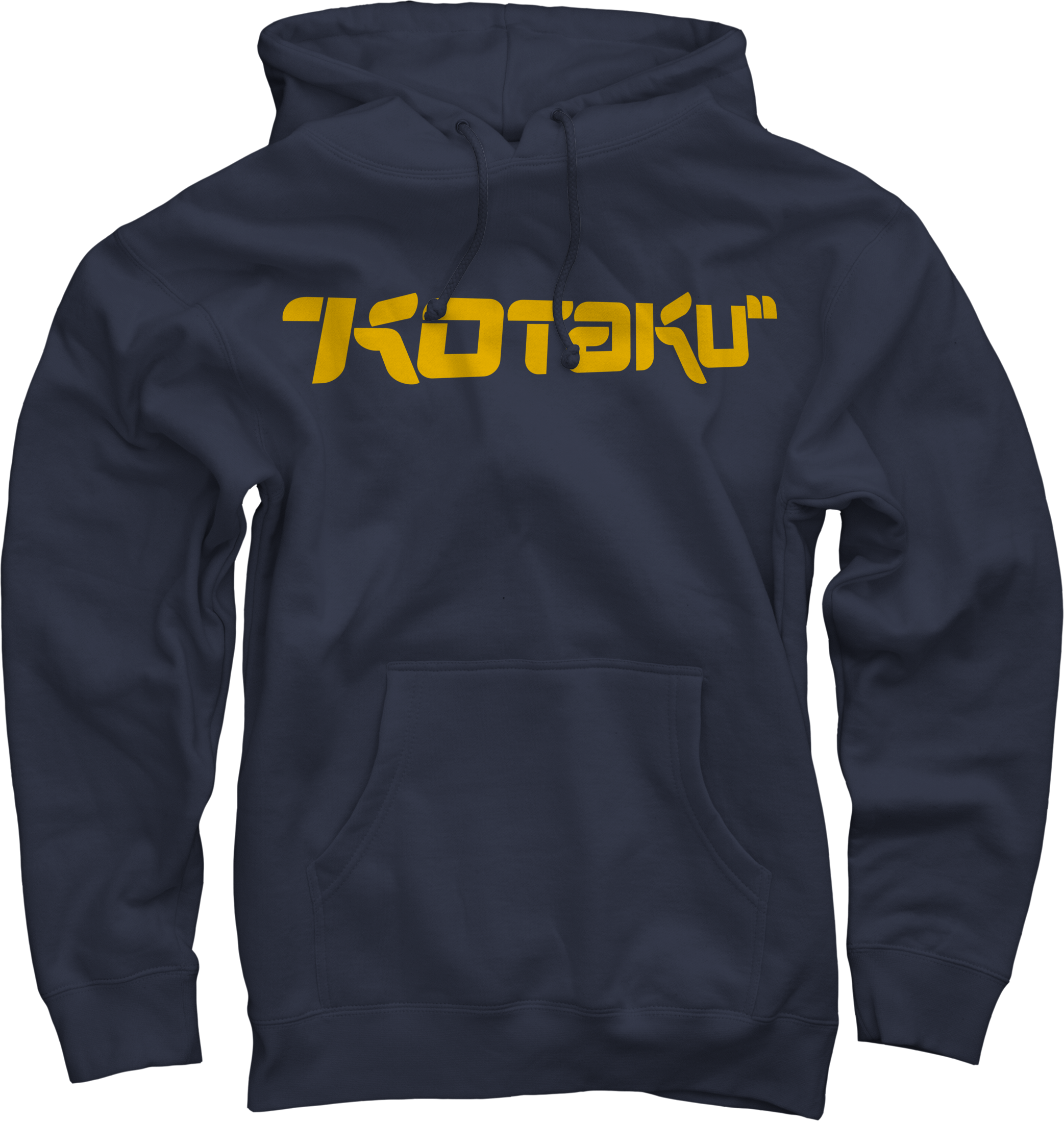 Logo on Navy Pullover Hoodie