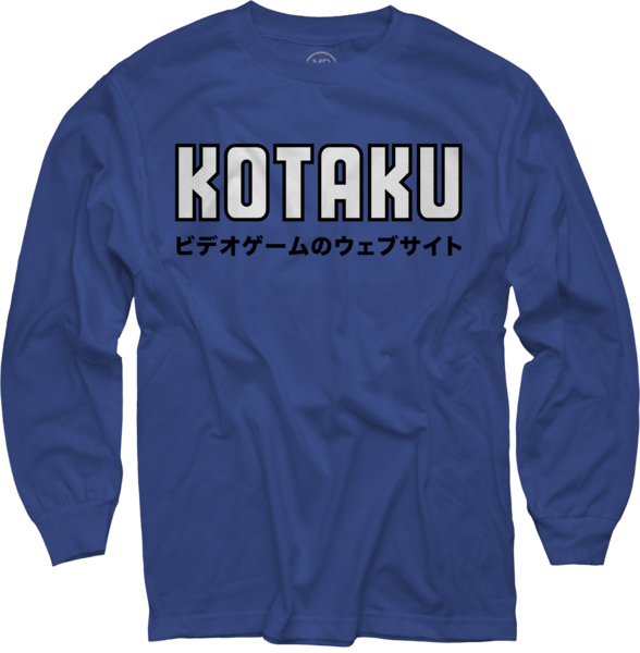 Japanese on Royal Blue Long Sleeve T-Shirt