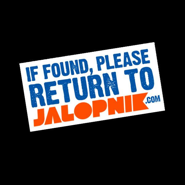 If Found Die-Cut Sticker