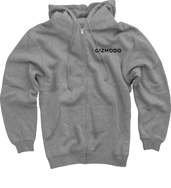 Gizmodo on Heather Grey Zip Up Hoodie