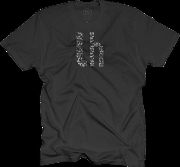 Lifehacker Pattern on Black T-Shirt