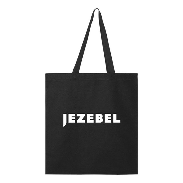 Jezebel Logo on Black Tote