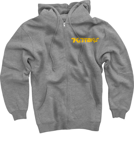 Kotaku Logo on Heather Grey Zip Hoodie