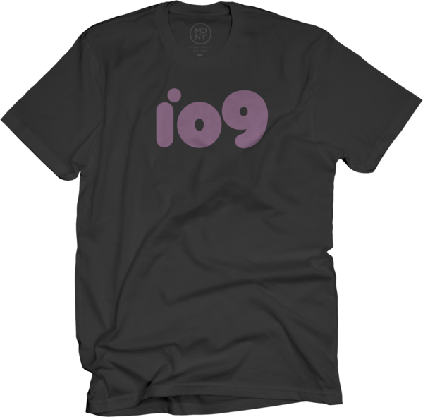 io9 on Black T-Shirt