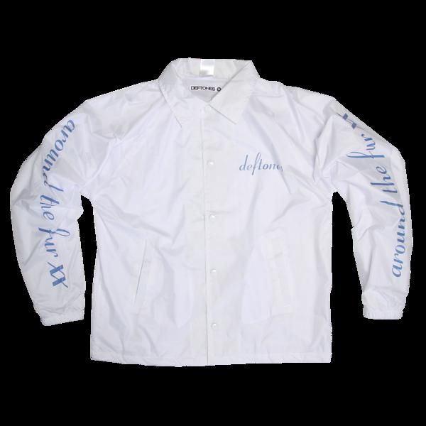 Around The Fur White Coaches Jacket