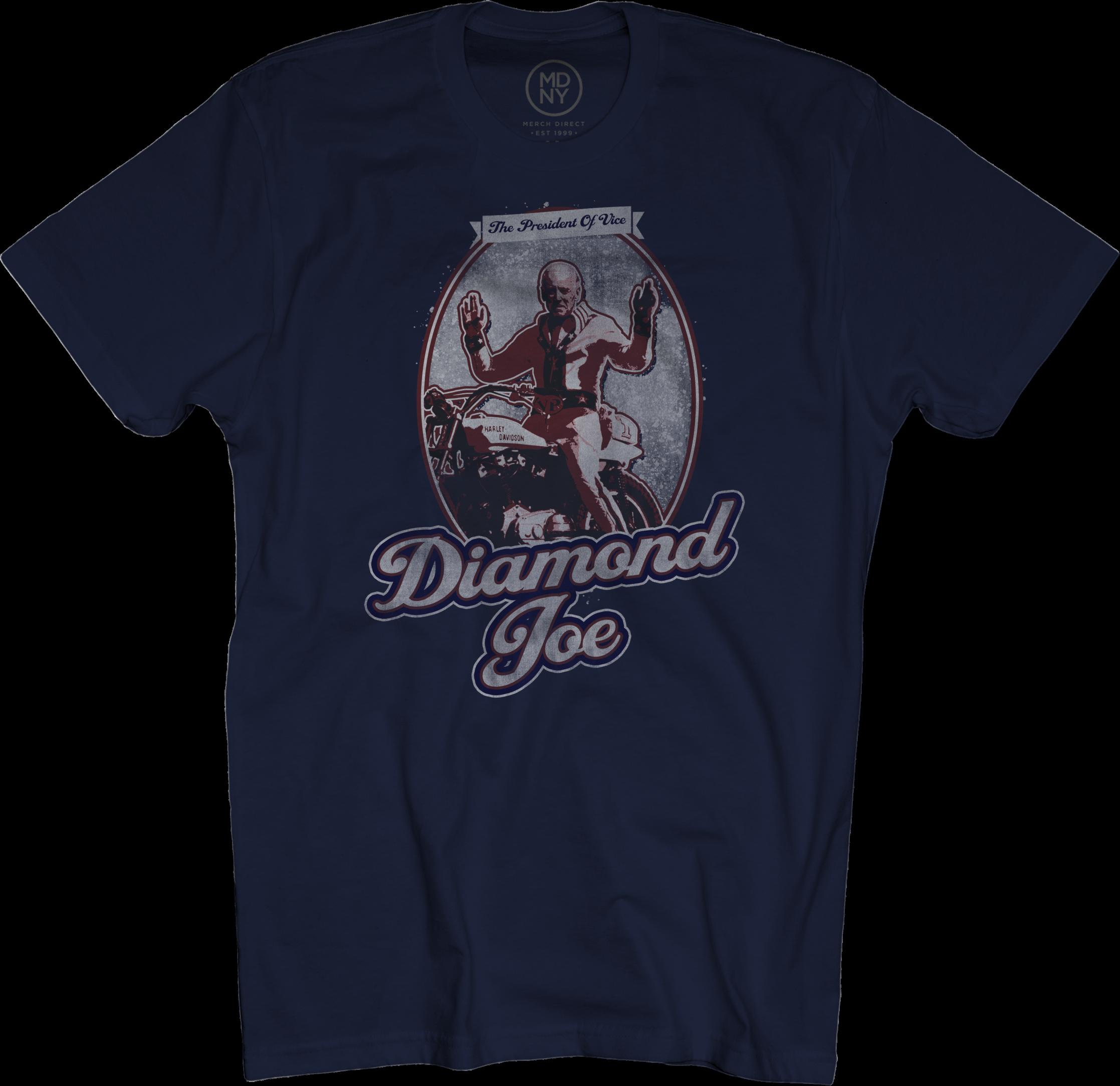 Diamond Joe on Navy T-Shirt