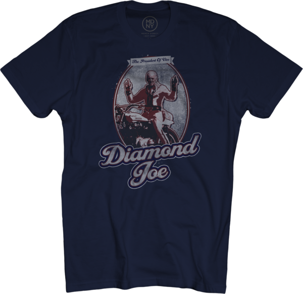 Diamond Joe on Navy T-Shirt