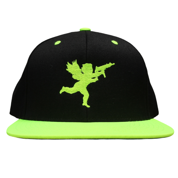Cupid on Black/Neon Green Snapback