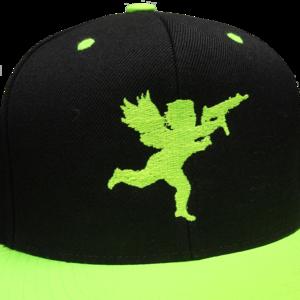 Cupid on Black/Neon Green Snapback