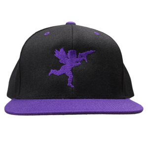 Cupid on Black/Purple Snapback