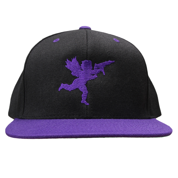 Cupid on Black/Purple Snapback