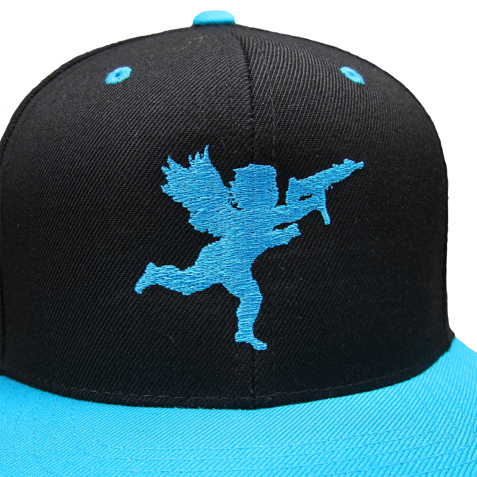 Cupid on Black/Teal Snapback