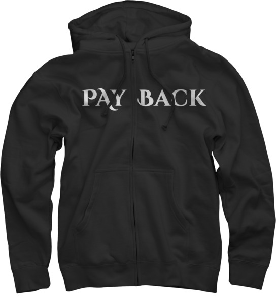 Payback Black Zip Up Hoodie