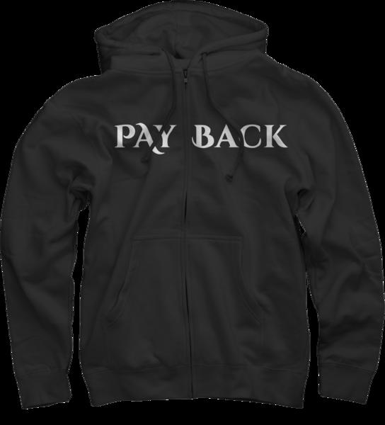 Payback Black Zip Up Hoodie