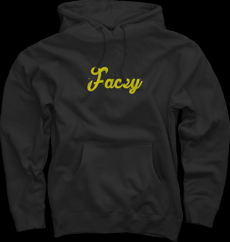 Facey Hoodie - Black